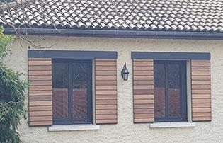 remplacement des volets traditionnels par des volets bois coulissant en rénovation