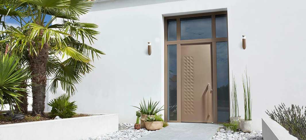 Porte d'entrée design sur mesure